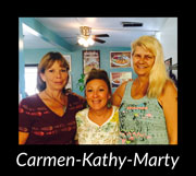 Carmen, Kathy, and Marty